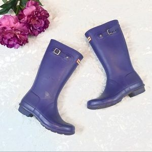 Hunter Girls Purple Tain Boots